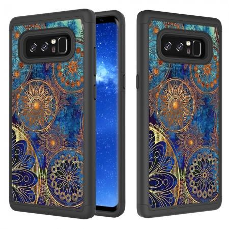 Hybrid Dual Layer Shockproof Defender Phone Case Cover For Samsung Galaxy Note 8 - Gear Wheel