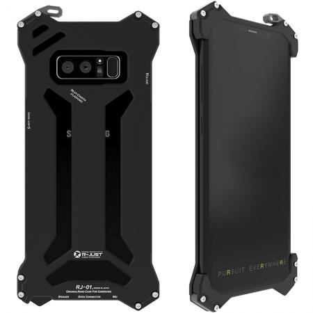 R-JUST Gundam Series Aluminum Metal Shockproof Case for Samsung Galaxy Note 8 - Black