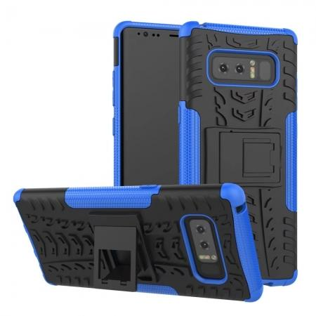 Shockproof TPU&PC Hybrid Stand Case Cover For Samsung Galaxy Note 8 - Blue
