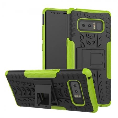 Shockproof TPU&PC Hybrid Stand Case Cover For Samsung Galaxy Note 8 - Green