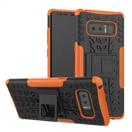 Shockproof TPU&PC Hybrid Stand Case Cover For Samsung Galaxy Note 8 - Orange