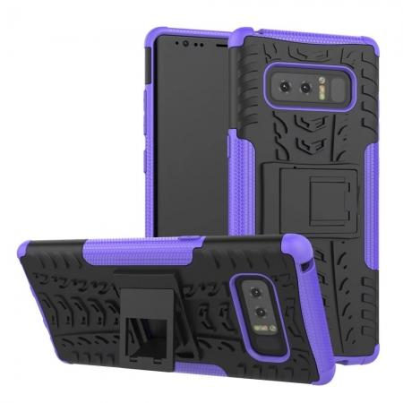 Shockproof TPU&PC Hybrid Stand Case Cover For Samsung Galaxy Note 8 - Purple