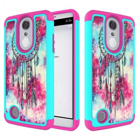 Tough Protective Rubber Bumper Shockproof Hybrid Phone Case For LG Aristo MS210 - Dream Catcher