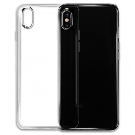Ultra-tin Soft TPU Shockproof Back Case Cover for iPhone X - Tansparent