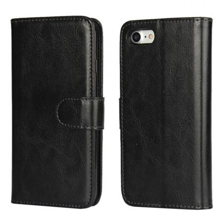 2in1 Magnetic Removable Detachable Leather Wallet Cover Case For iPhone 8 Plus 5.5 inch - Black