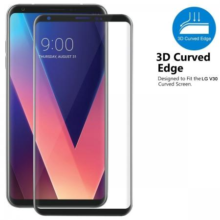 3D Curve Fit Full Screen Coverage Tempered Glass Screen Protector For LG V30