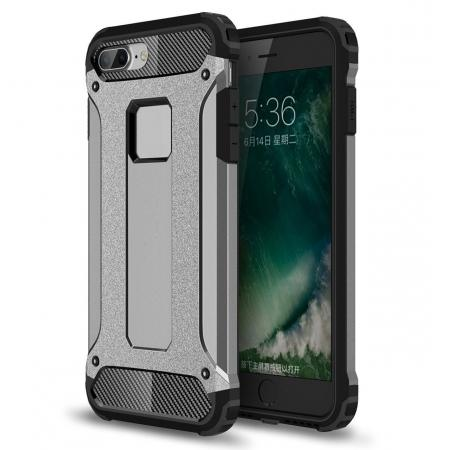 Dustproof Dual-layer Hybrid Armor Protective Case For Apple iPhone 8 Plus 5.5inch - Gray