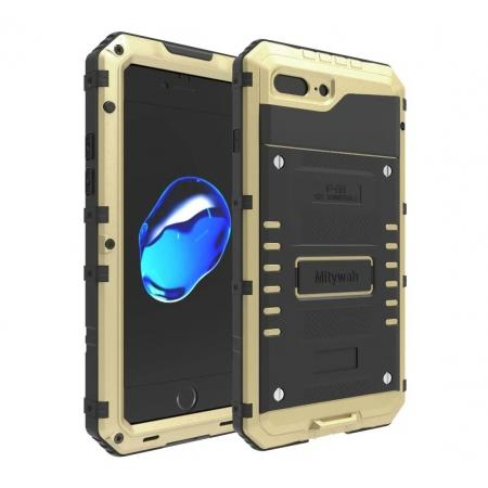 IP68 Waterproof Shockproof Aluminum Metal Case for iPhone 8 Plus 5.5inch - Gold