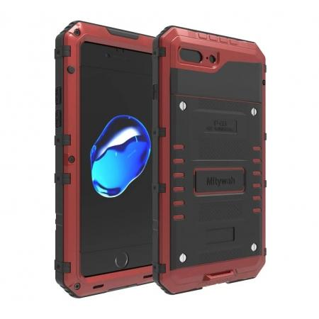 IP68 Waterproof Shockproof Aluminum Metal Case for iPhone 8 Plus 5.5inch - Red