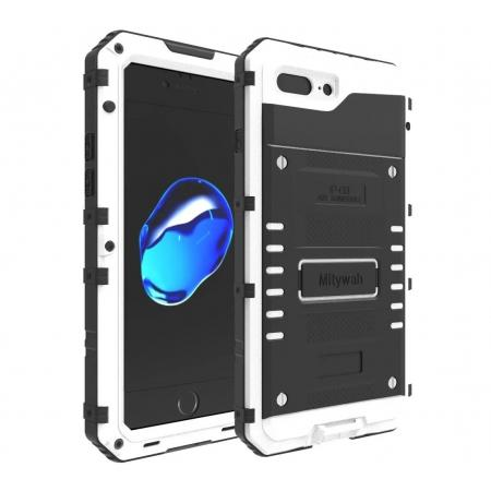 IP68 Waterproof Shockproof Aluminum Metal Case for iPhone 8 Plus 5.5inch - White