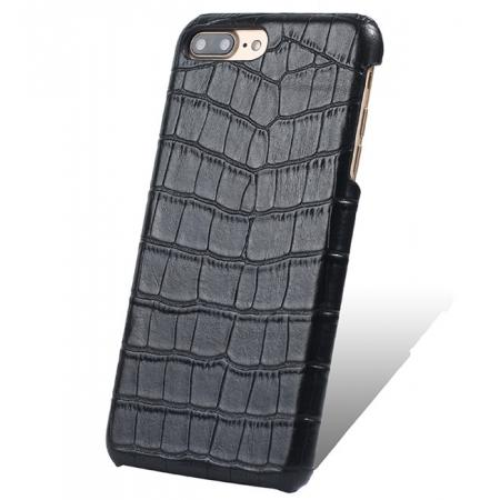 Luxury Genuine Real Leather Crocodile Back Case Cover For Apple iPhone 8 Plus - Black