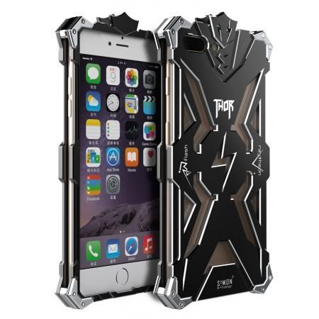Premium Armor Full Aluminum Metal Protective Case for iPhone 8 Plus 5.5inch - Black