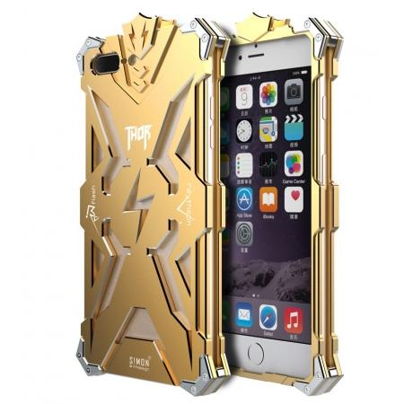 Premium Armor Full Aluminum Metal Protective Case for iPhone 8 Plus 5.5inch - Gold