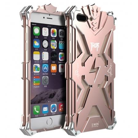 Premium Armor Full Aluminum Metal Protective Case for iPhone 8 Plus 5.5inch - Rose gold
