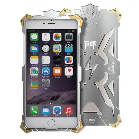 Premium Armor Full Aluminum Metal Protective Case for iPhone 8 Plus 5.5inch - Silver