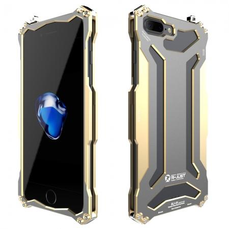 R-JUST Gundam Shockproof Full Aluminum Metal Case Cover for iPhone 8 Plus 5.5inch - Gold