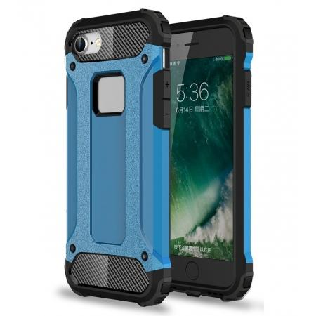 Shockproof Dual-layer Armor Hybrid Protective Case for Apple iPhone 8 4.7inch - Blue