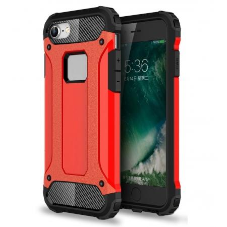 Shockproof Dual-layer Armor Hybrid Protective Case for Apple iPhone 8 4.7inch - Red