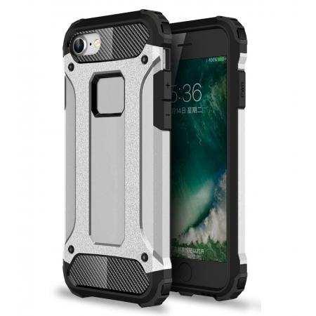 Shockproof Dual-layer Armor Hybrid Protective Case for Apple iPhone 8 4.7inch - Silver