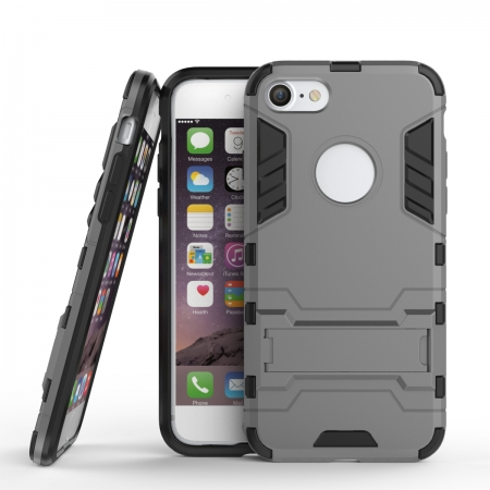 Slim Armor Shockproof Kickstand Protective Case for iPhone 8 4.7inch - Gray