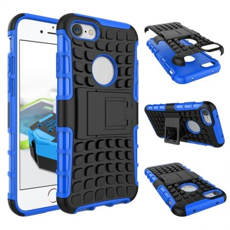 Tough Armor Shockproof Hybrid Dual Layer Kickstand Protective Case for iPhone 8 4.7inch - Blue