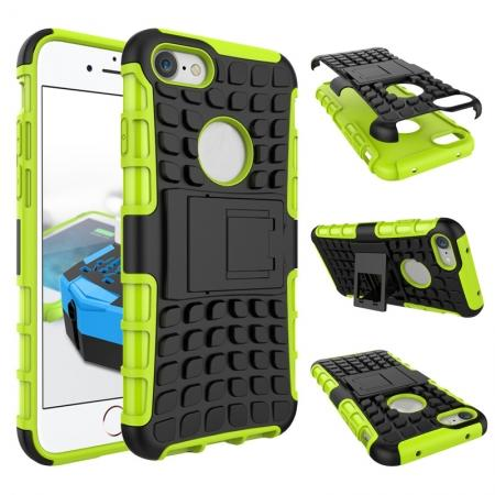 Tough Armor Shockproof Hybrid Dual Layer Kickstand Protective Case for iPhone 8 4.7inch - Green