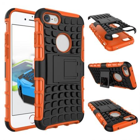 Tough Armor Shockproof Hybrid Dual Layer Kickstand Protective Case for iPhone 8 4.7inch - Orange