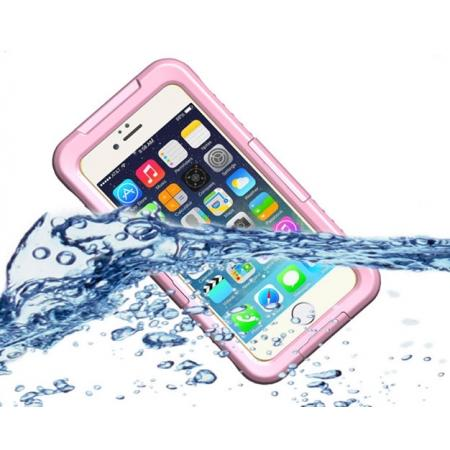 Waterproof Shockproof Dirtproof Hard Case Cover for iPhone 8 Plus 5.5 inch - Pink