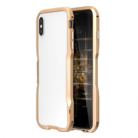 Aluminium Alloy Metal Bumper Case for iPhone XS / X - Gold