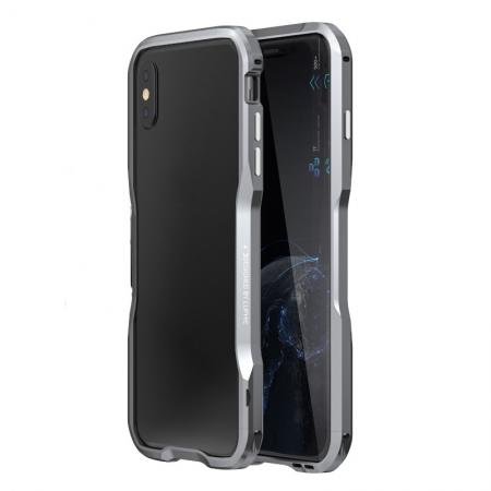 Aluminium Alloy Metal Bumper Case for iPhone X - Grey