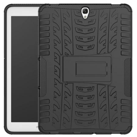 Hybrid Protection Cover Built-In Kickstand Case For Samsung Galaxy Tab S3 9.7 2017 T820 - Black