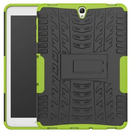 Hybrid Protection Cover Built-In Kickstand Case For Samsung Galaxy Tab S3 9.7 2017 T820 - Green