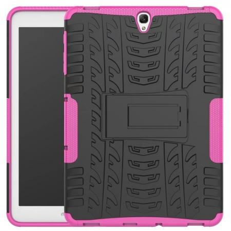 Hybrid Protection Cover Built-In Kickstand Case For Samsung Galaxy Tab S3 9.7 2017 T820 - Hot Pink