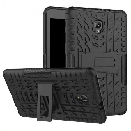 Hybrid Rugged Hard Case Cover with Kickstand for Samsung Galaxy Tab A 8.0 2017 T380/T385 - Black