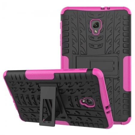 Hybrid Rugged Hard Case Cover with Kickstand for Samsung Galaxy Tab A 8.0 2017 T380/T385 - Hot Pink
