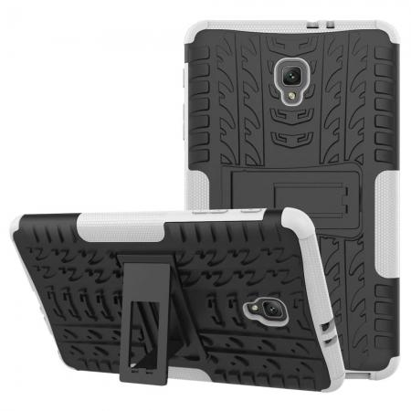 Hybrid Rugged Hard Case Cover with Kickstand for Samsung Galaxy Tab A 8.0 2017 T380/T385 - White