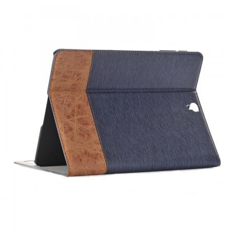 Leather Wallet Stand Folio Flip Smart Case for Samsung Galaxy Tab S3 9.7 Inch T820/T825 - Dark Blue