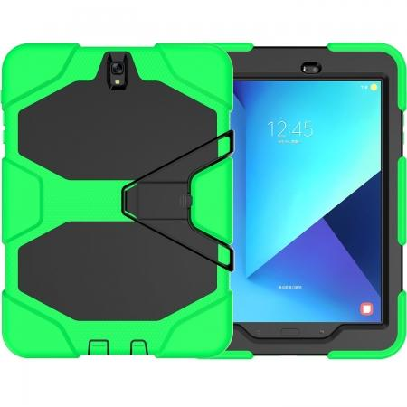 PC+Silicone Hybrid Kickstand Rugged Armor Case for Samsung Galaxy S3 9.7