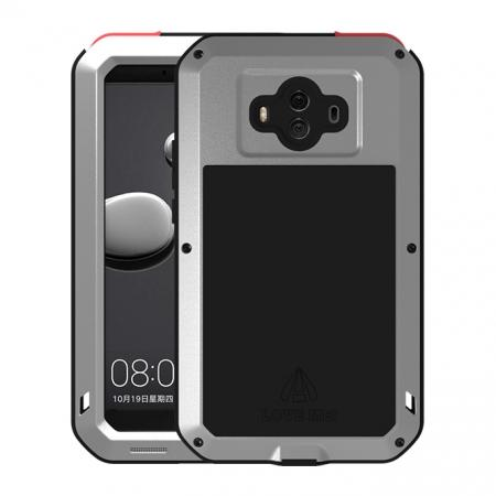 Powerful ShockProof Dustproof LifeProof Aluminum Case for Huawei Mate 10 - Silver