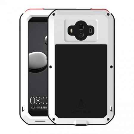 Powerful ShockProof Dustproof LifeProof Aluminum Case for Huawei Mate 10 - White