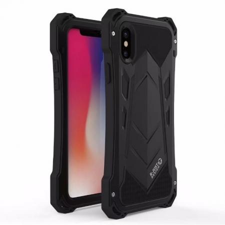 R-JUST Armor Aluminum  Waterproof Shockproof  Case for iPhone XS / X - Black