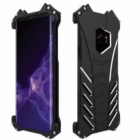 Luxury Aluminum Metal Bumper Frame Case For Samsung Galaxy S9+ Plus - Black