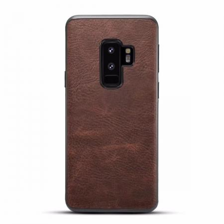 Luxury PU Leather Shockproof Slim Case Cover For Samsung Galaxy S9+ Plus - Coffee
