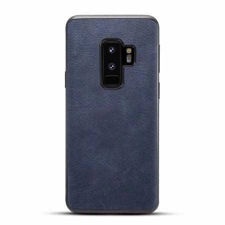Luxury PU Leather Shockproof Slim Case Cover For Samsung Galaxy S9+ Plus - Dark Blue
