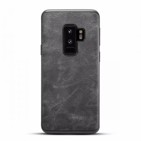 Luxury PU Leather Shockproof Slim Case Cover For Samsung Galaxy S9+ Plus - Dark Gray