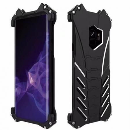 Premium Aluminum Metal Bumper Frame Case Cover For Samsung Galaxy S9 - Black