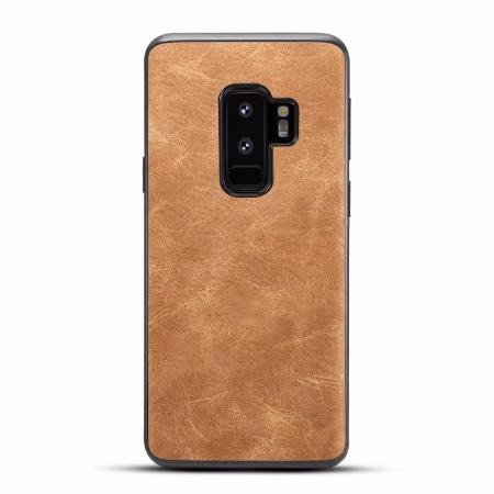 Ultra Slim Shockproof Soft PU Leather Case Cover For Samsung Galaxy S9 S9 Plus - Brown