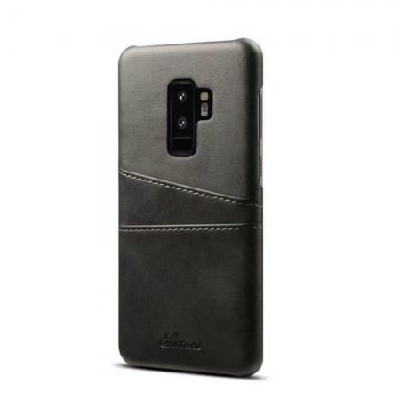 Wallet Style 2 Card Slots Leather Case Back Cover for Samsung Galaxy S9 S9 Plus - Black