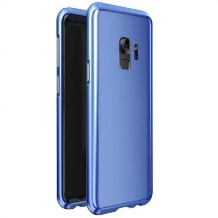 Shockproof Aluminum Metal Frame Bumper Case for Samsung Galaxy S9 - Blue