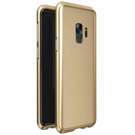 Shockproof Aluminum Metal Frame Bumper Case for Samsung Galaxy S9 - Gold